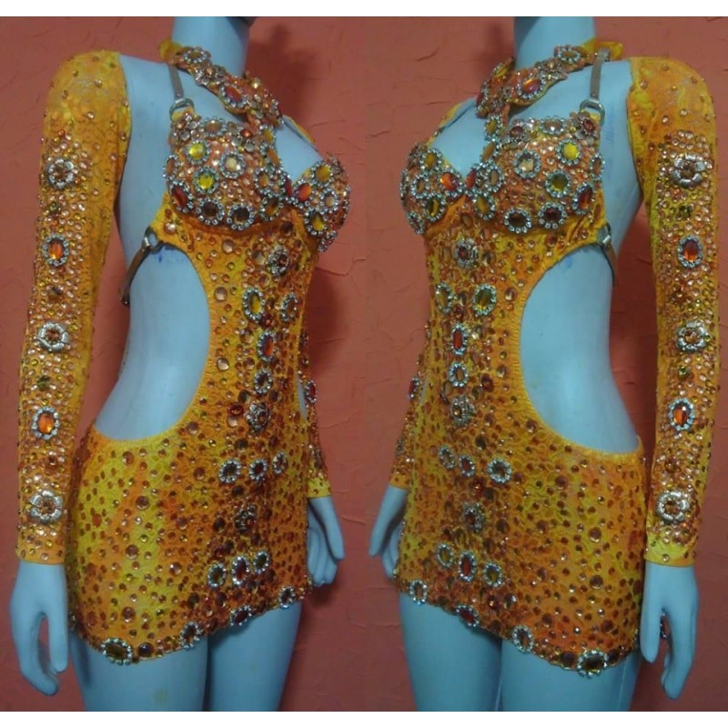 Joana Supreme Crystal Samba Shine Dress - BrazilCarnivalShop