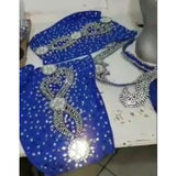 Silver, Blue & Purple Bikini Samba Costume