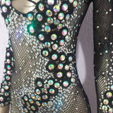 Queen Jeweled Fishnet Bodystocking - BrazilCarnivalShop