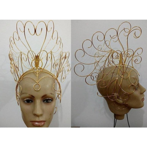 Headdress Wire Frame - Curls - BrazilCarnivalShop