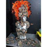Black & Orange Luxury Bikini Samba Costume - BrazilCarnivalShop