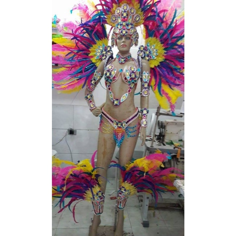 Majestic Colors Rainha Complete 11 Piece Samba Costume