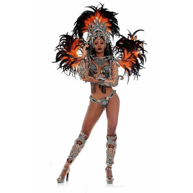 Brilliance Orient Crystal Splendor Luxury Bikini Samba Costume
