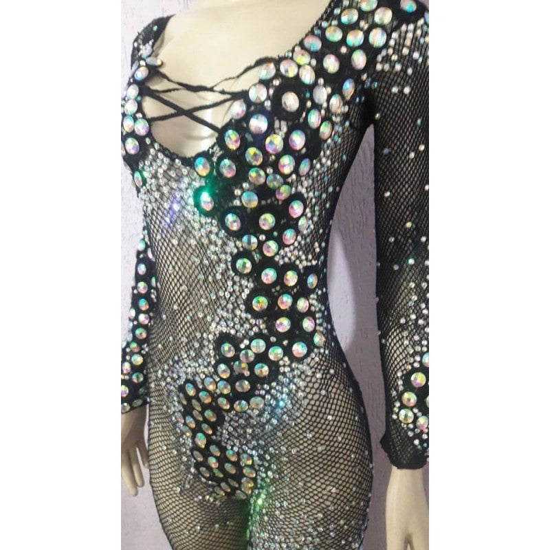 d9cba0a6a10 Queen Jeweled Fishnet Bodystocking