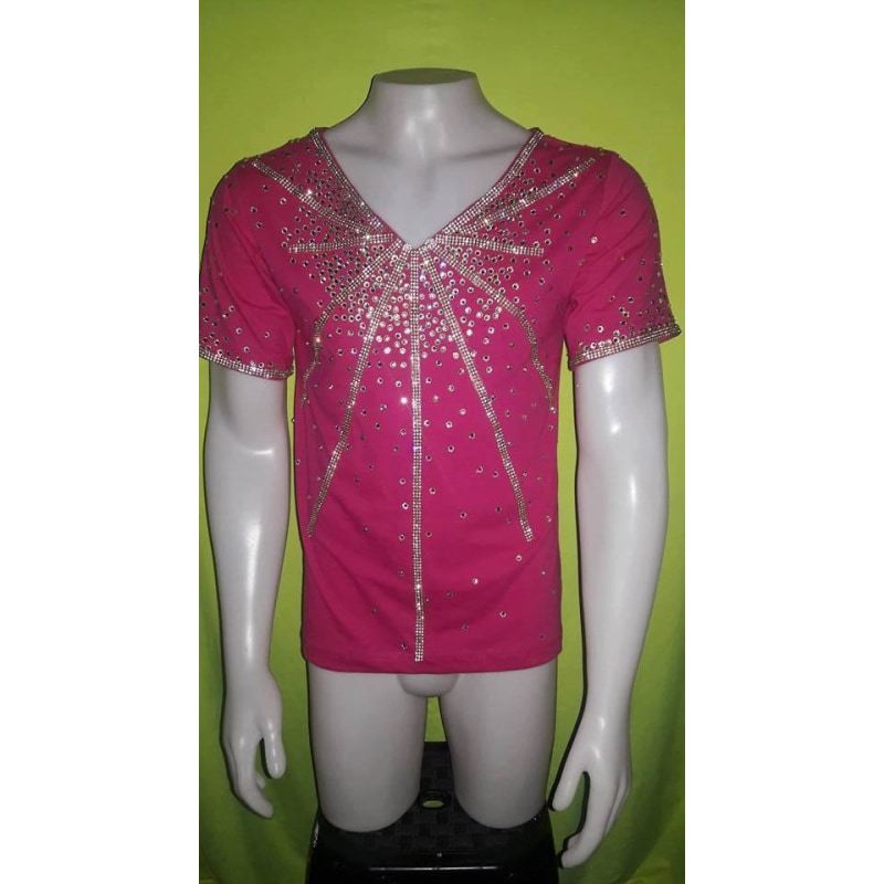 Men's Samba T-Shirt Short V Neck - BrazilCarnivalShop