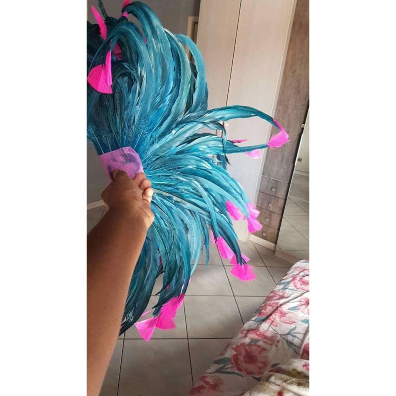 Blue and Pink Luxury Bikini Samba Costume - BrazilCarnivalShop