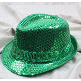 Fedora Sequined Adult Samba Show Hat - Various Colors