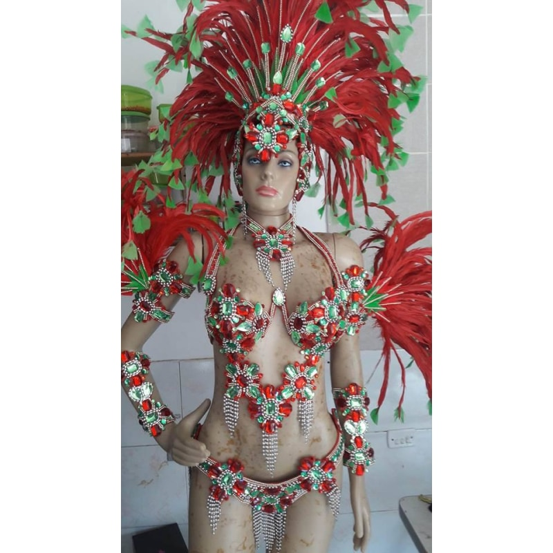 Pitanga & Green Luxury 10 Piece Samba Costume