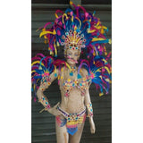 Carnivalia Colors Samba Complete 10 Piece Costume