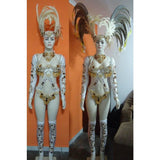 Bianco Star Samba Diva Wear + Necklace - BrazilCarnivalShop