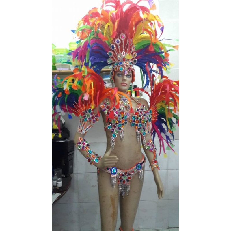 Candy Rainbow Samba Complete 10 Piece Costume