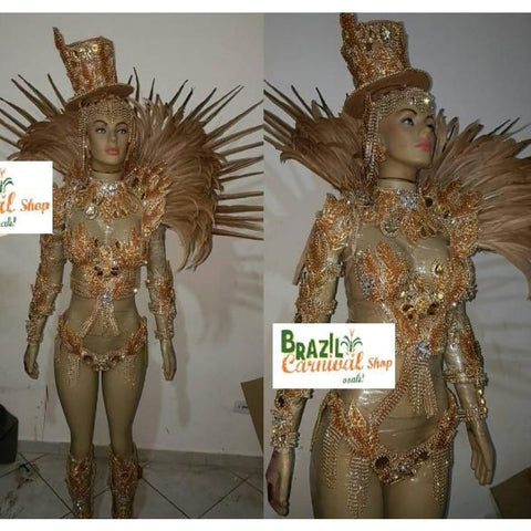Yellow and Blue Luxury Bikini Samba Costume