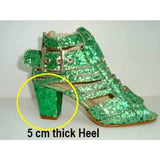 Brilliant Crystal Samba Sandals - Special Request - Leather