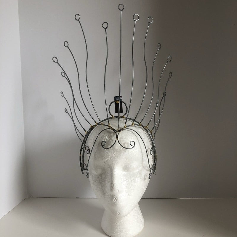 Headdress Wire Frame - Vertical Lines & Dot - BrazilCarnivalShop