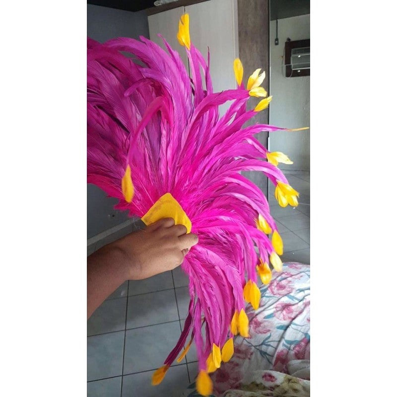 Hot Pink and Orange/Yellow Luxury Bikini Samba Costume