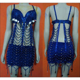Mari Samba Beads, Sequined, Fringes Dress - BrazilCarnivalShop