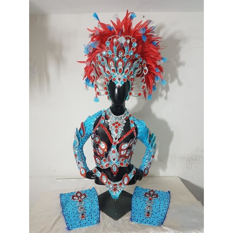 Exotica Blue and Red - BrazilCarnivalShop