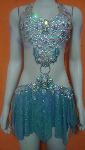 Azure Samba Luxury Dance Wear