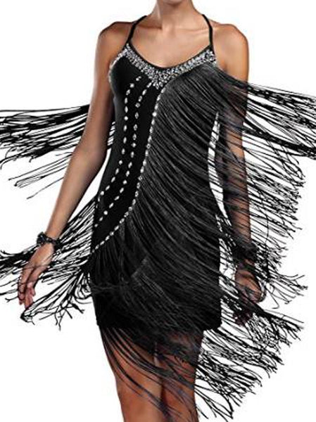 Long Fringes Glamourosa Show Dress
