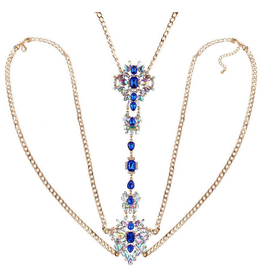Crossed Chain Crystal Samba Queen - BrazilCarnivalShop