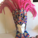 Hot Pink and Royal Blue Rio Bikini Samba Costume - Final Sale