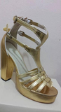 Half Gladiator Fish Tail Samba Shoes - Size Brazil 37