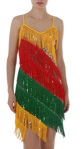 Multi Color Rio Fringes Dress