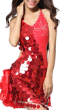 Melissa Gafieira Sequin & Ruffled Dance Dress