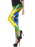 Brazil Flag Legging Paint