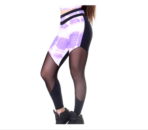 Legging - Tulle Splash Purple & Pink