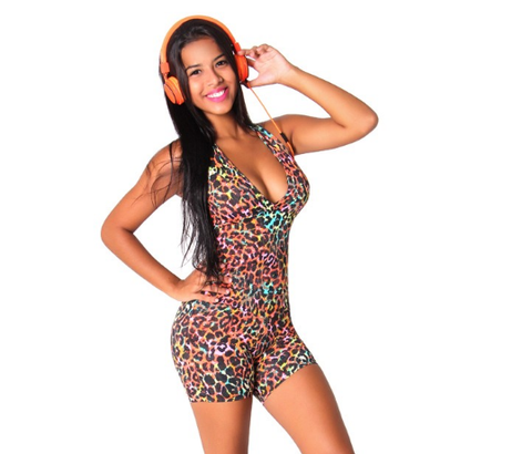 Short One Piece Jumper - Color Animal Print