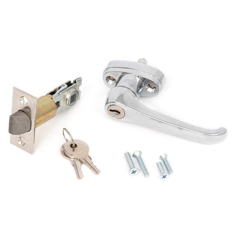 Bundle of Square Spindle L Handle (HR107ADA),  Bolt/Latch for Square Spindle  (HR115) & Keys (CH751)