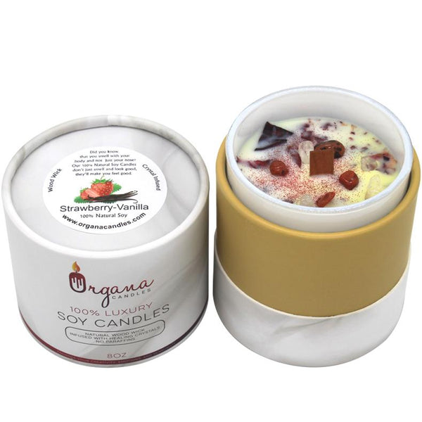 Scented Candles - Strawberry Vanilla Candle | Organa Candles