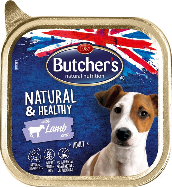 BUTCHERS KOERA PASTEET NATURAL&HEALTHY LAMMAS 150G
