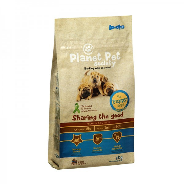 Planet Pet Society täistoit kutsikatele kanaga 3kg