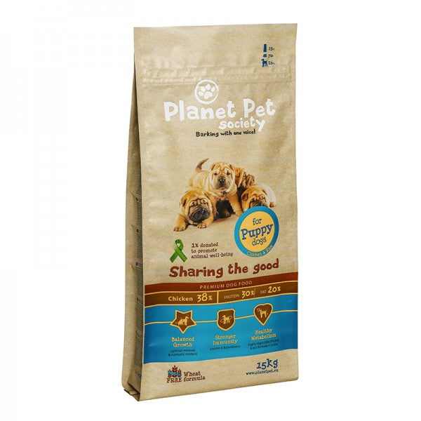 Planet Pet Society täistoit kutsikatele kanaga 15kg