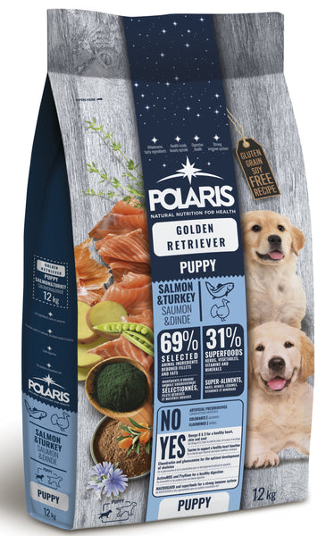 Polaris grainfree puppy salmon&turkey kuldne retriiver 12 kg