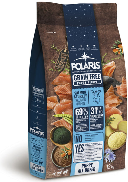 Polaris grainfree puppy salmon&turkey   12kg