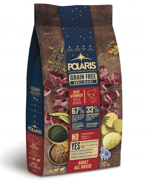 Polaris grainfree adult  beef&turkey 12kg