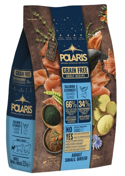Polaris grainfree salmon&turkey adult small breeds 2,5kg