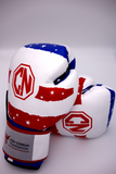 Combat Night Red White and Blue Boxing Gloves 16oz