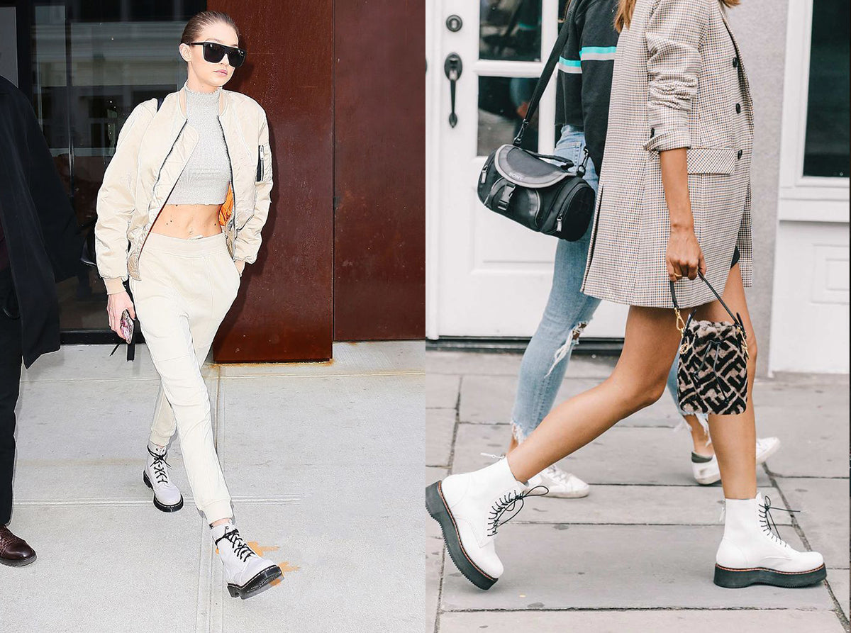 Style your white boots