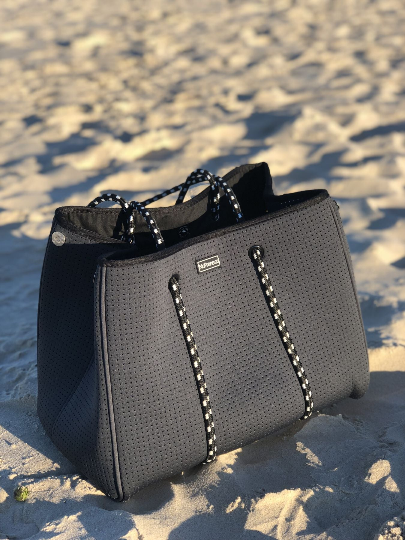 Black Neoprene Tote Bag