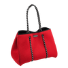 CarryAll Tote Bag (Coral Red) Top Front - Nuprene.co