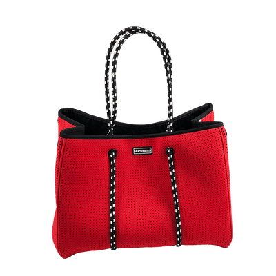 CarryAll Tote Bag (Coral Red) Top - Nuprene.co