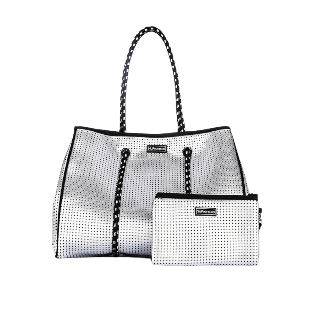 CarryAll Tote Bag (Metallic Silver) - Nuprene.co