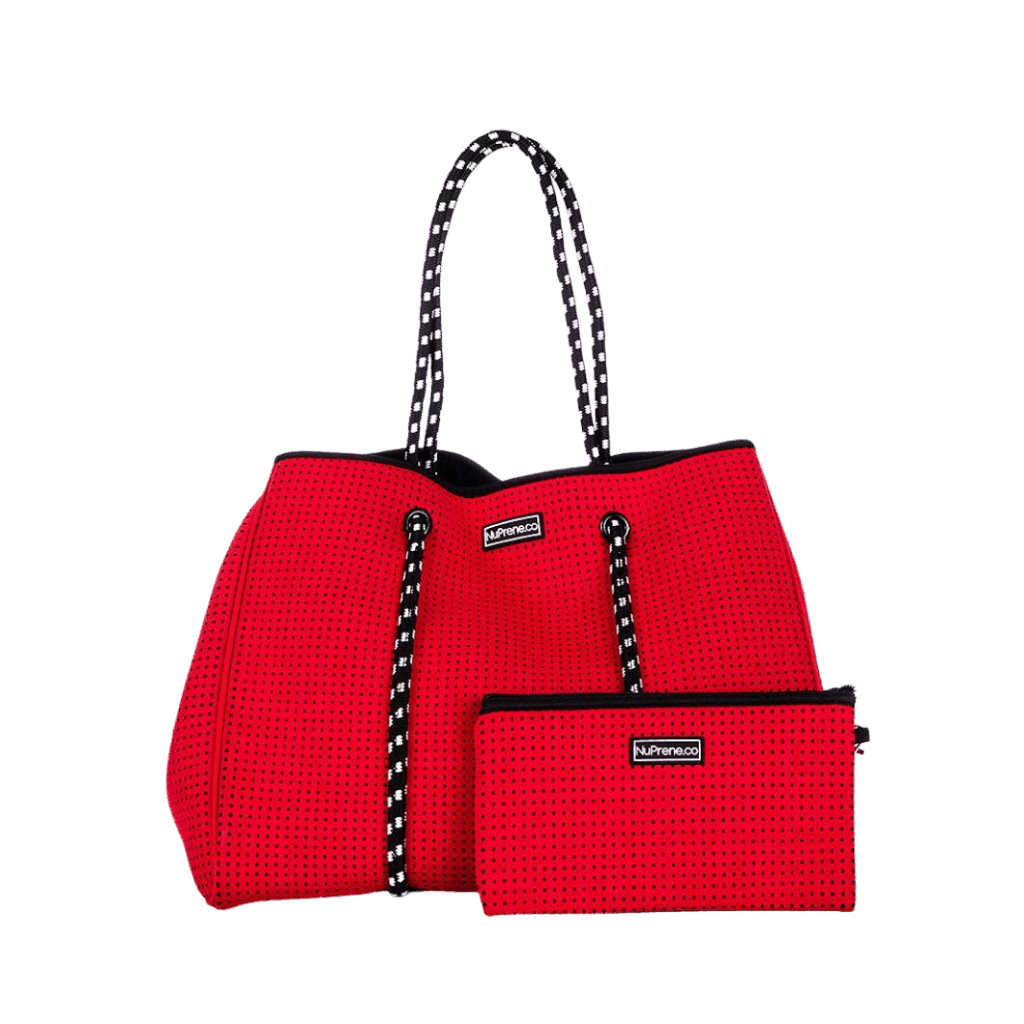 CarryAll Tote Bag (Coral Red) - Nuprene.co