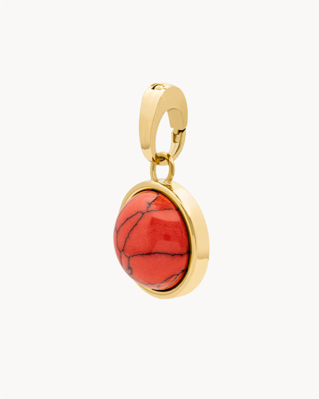 Energy Stone Coral Howlite Signature Anhänger, Gold