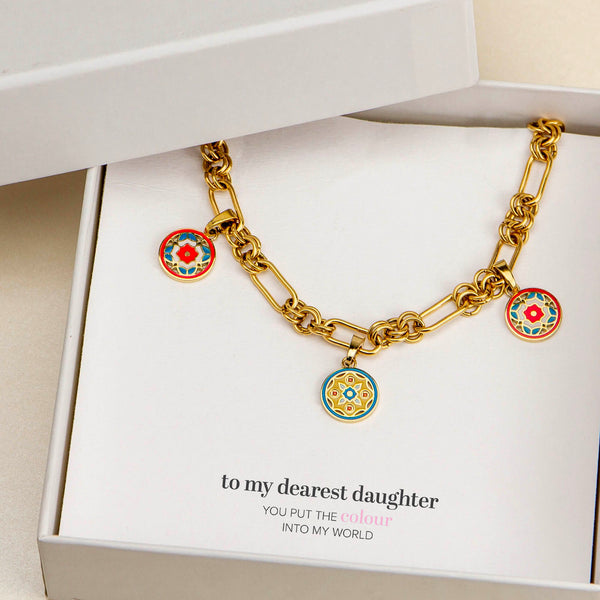 Daughter's Exclusive Trio Maduma Necklace Set, Gold