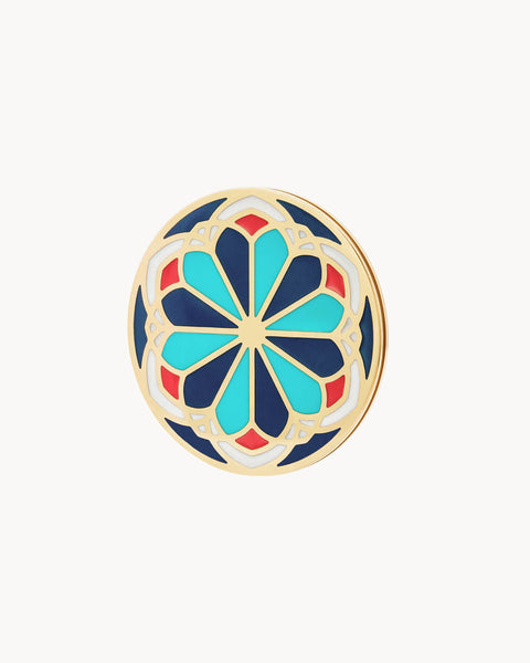 Ta 'Pinu Rosenfenster Maduma Twist Coin Blue, Gold